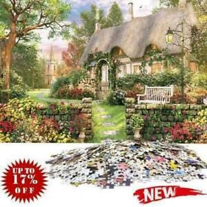 1000-Piece-Jigsaw-Puzzle-England-Cottage-Landscapes-Puzzles-Educational-C7O9