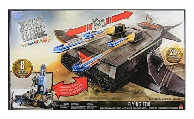 NEW MATTEL Justice League Batman Flying Fox Command Center Playset