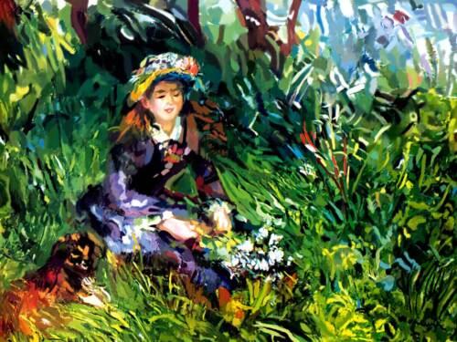 Renoir cod 25 Poster cm 35x50 Affiche Plakat Cartel Stampa Grafica Art papiarte