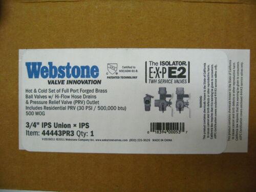 """Details about  /Webstone Valve 44443PR3 3//4/"""" IPS ISOLATOR EXP E2 w// 30 PSI PRV  I-6"""