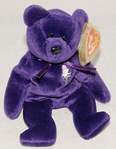 b4fc2858ed2 Rare 1ST Edition TY Princess Diana Bear Beanie Baby China 1997 NO ...