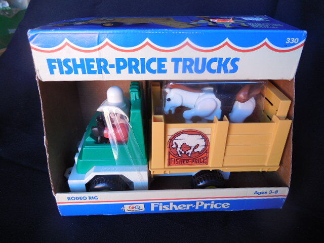 Collectible Toy Vintage Fisher Price Toy NIBNO Rodeo Rig  1980  Pretend Play