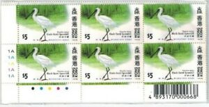 1997-Hong-Kong-stamp-set-034-Migratory-Birds-034-Yang-039-s-Cat-S78-in-block-of-6