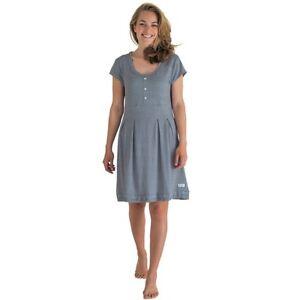 SALE-Nachthemd-Kleid-Jersey-Spot-grau-weiss-gepunktet-Greengate-Gr-M