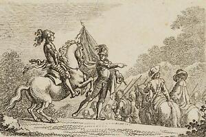 Chodowiecki (1726-1801). marcia un esercito nel 30 anni di guerra; pressione grafico