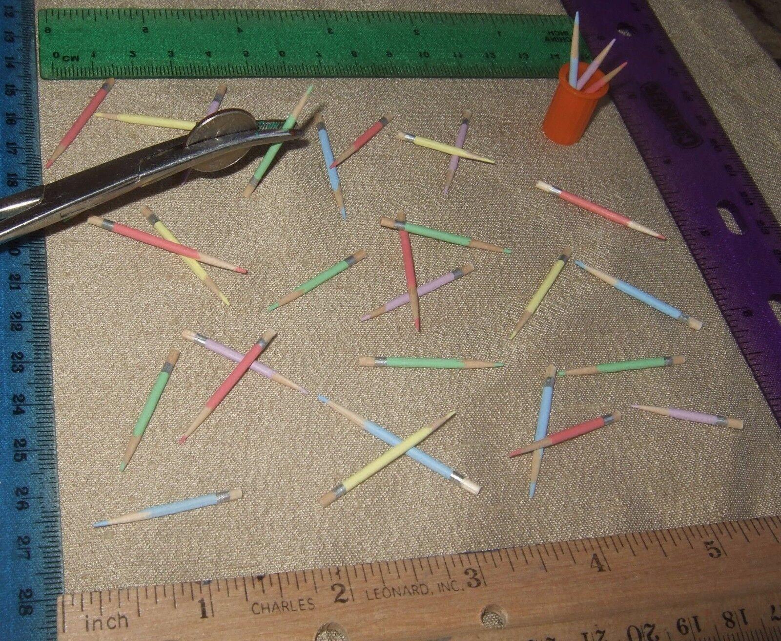 MINIature DollHouse Barbie Scrapbook CRAFTS School Farbe Pencils 1  Sc LOT 400