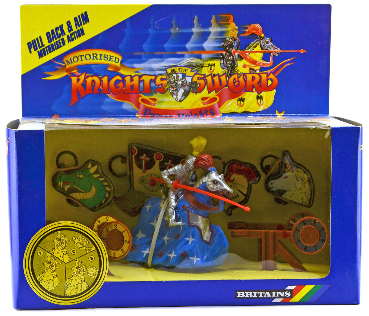Britains Deetail Power Knight Target Set Set Set - mint-in-box - colors vary 562c40