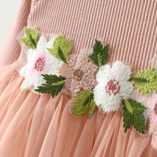 Newborn Toddler Baby Girl Floral Princess Tutu Dress Wedding Party Pageant Gown