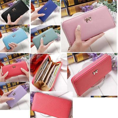 Women Lady Fashion Leather Zip Purse Clutch Wallet Card Holder Case Coin Handbag