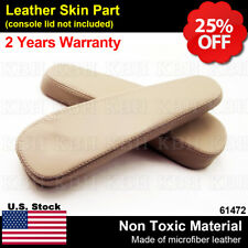 2pcs Leather Seat Armrest Cover Fit For Lexus Gx 470 Gx470 2003 2009 Ivory Beige