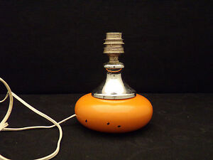 Lampe-a-Poser-Verre-amp-Metal-Orange-Vintage-design-14-cm-de-Haut
