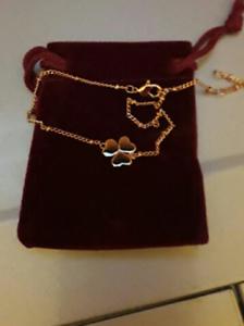 Bracelet Trèfle Plaqué Or Rose Neuf