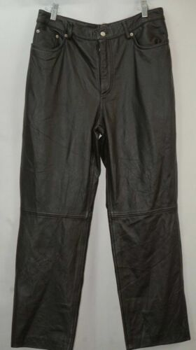 Tommy Hilfiger Brown Genuine Leather Pants Classic