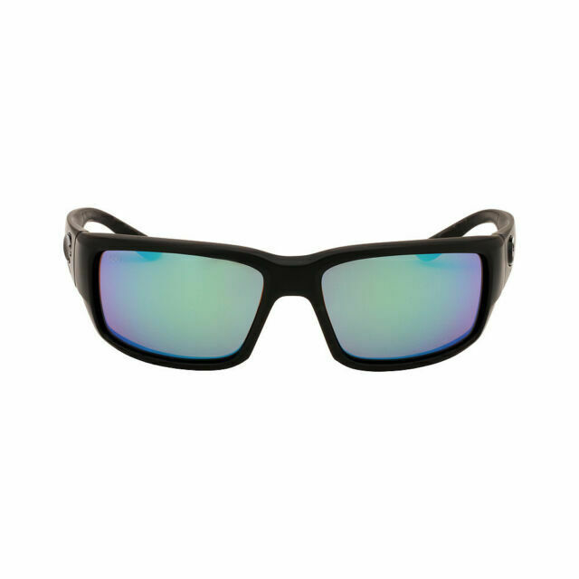 Green Mirror 580 Plastic Lens Costa Del Mar Fantail Sunglasses Blackout