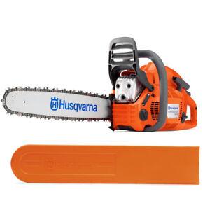 New-Husqvarna-460-Rancher-Gas-Powered-Chainsaw-60-3cc-24-034-Bar-84dl-050-Chain