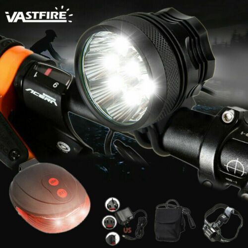 50000LM 9x XML T6 LED Bike Bicycle Lamp Head Light Headlamp W//Battery 6x18650