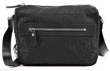 06411249d31 item 7 FENDI Men s Small  FF  Logo Messenger Bag Black Zucca Jacquard Nylon  Leather NEW -FENDI Men s Small  FF  Logo Messenger Bag Black Zucca Jacquard  ...