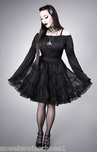 Restyle E Skirt Black Lolita Vintage Petticoat Tulle Gothic Rock Steampunk Tüll r6vTRrqAw