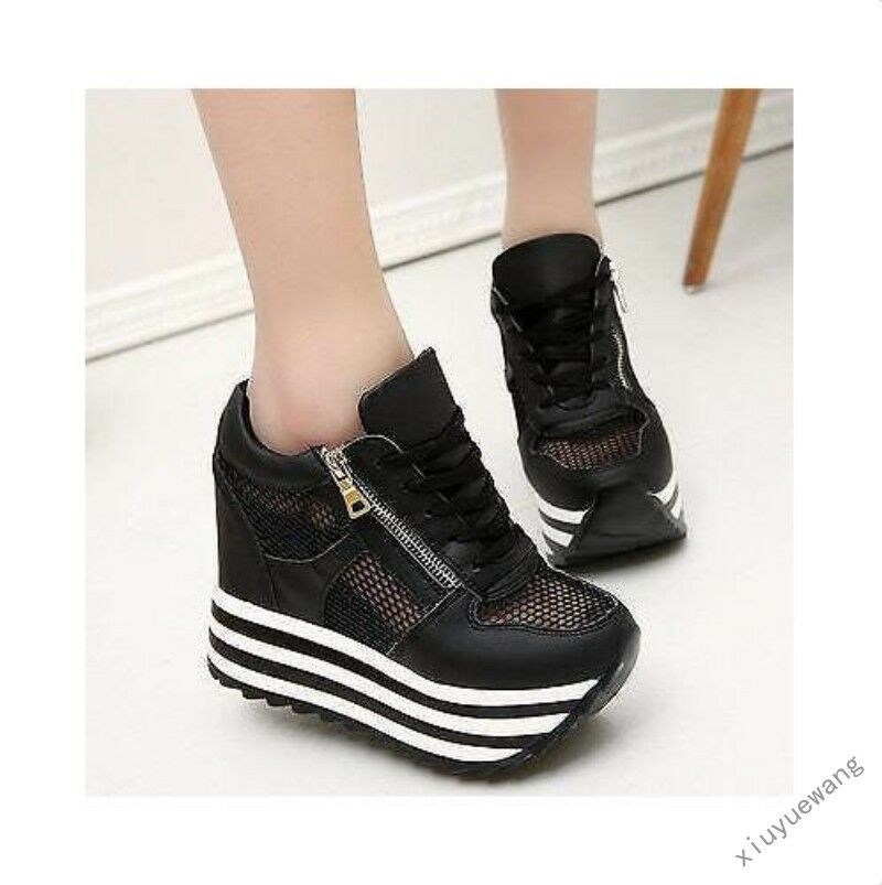 Womens Breathable Wedge Sneakers Roman Sport Platform Creepers Shoes Athletics