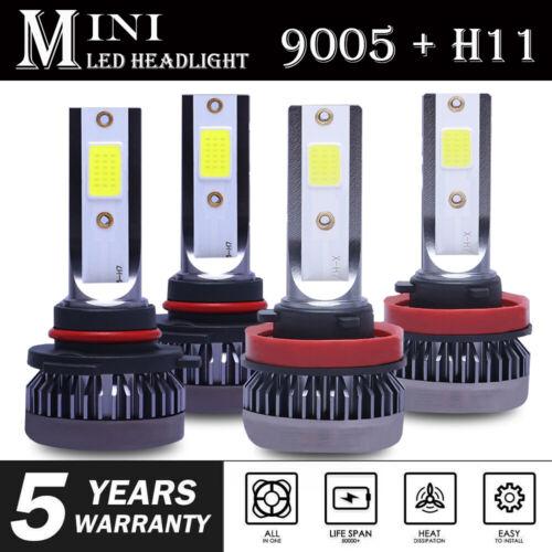 MINI 9005 H11 LED Headlight Bulb for 2008-2019 Chevy Silverado 1500 2500 3500 HD