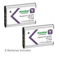 2x Kastar Battery For Sony Np-by1, En-el11, Li-60b, Dli-78, Db-l70, Db-80