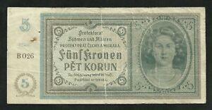 Boheme-et-Moravie-5-Kronen-Korun-1940