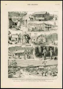 1883-Antique-Print-AUSTRALIA-TASMANIA-LAUNCESTON-BEACONSFIELD-MINING-206