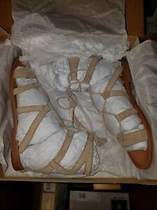 9db954aa551 Frye Women s Ruth Gladiator Short Sandal Grey Suede Sandals size 8.5 ...