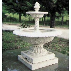 Fontana Da Giardino In Polvere Di Marmo Mod 57 Ebay