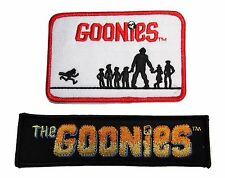 The GOONIES Movie Set of 2 Embroidered Logo PATCHES