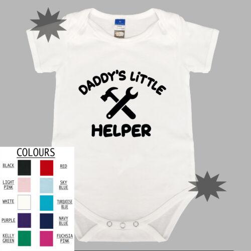 DADDY/'S LITTLE HELPER Unisex Cotton Baby One Piece Funny Romper Gift Boy Girl