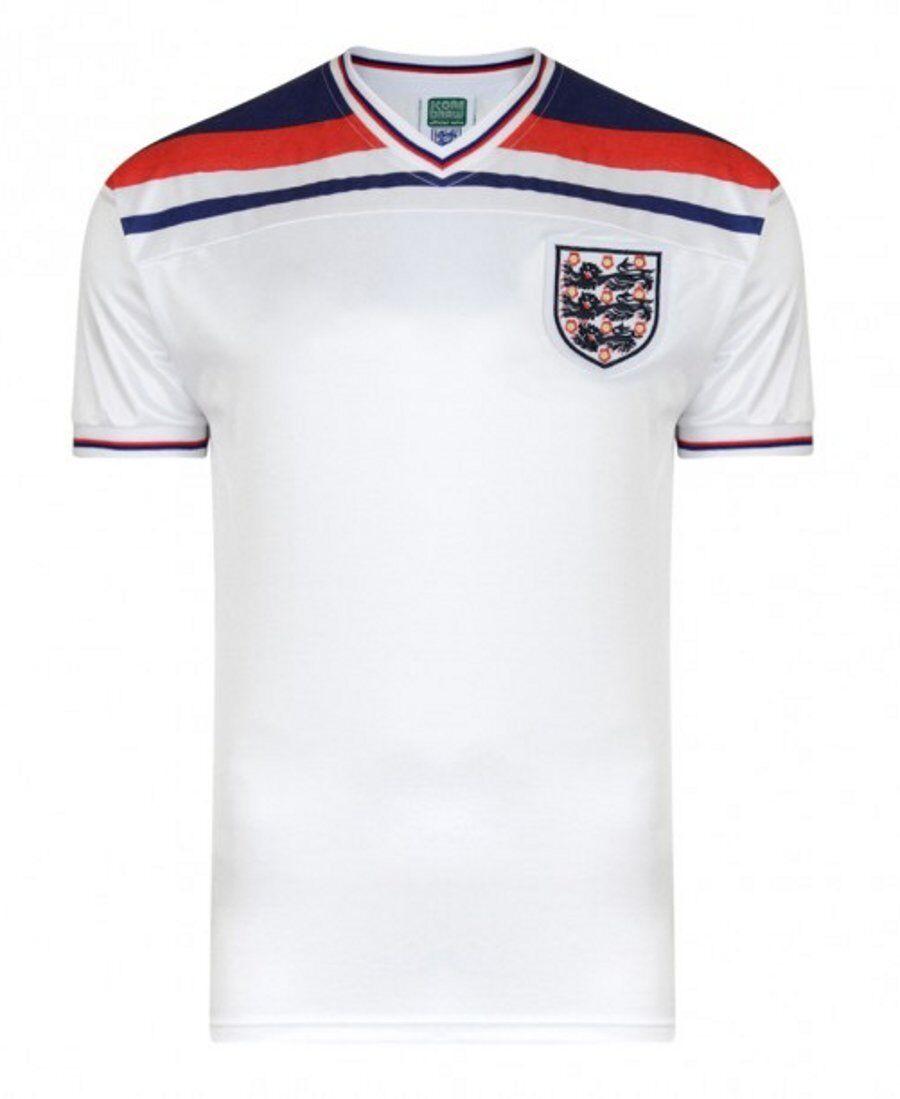 Official England Football 1982 World Cup Retro Home Shirt   White