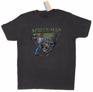 NEW-Marvel-Comics-JayJays-Olive-Gray-Spider-man-Green-Goblin-Tee-T-Shirt-Size-L