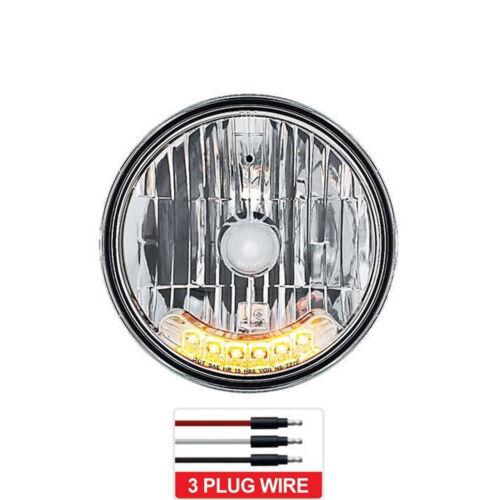 "7/"" Halogen Amber 6-LED Turn Signal Headlight Headlamp Running Lights Bulb Each"