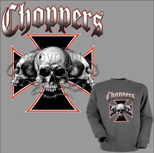 * Sweatshirt Biker Choppers Rocker Pullover Totenkopf Skull gothic *4087 gr