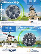 NEDERLAND - COINCARD 5 € 2014 UNC - HET MOLEN VIJFJE
