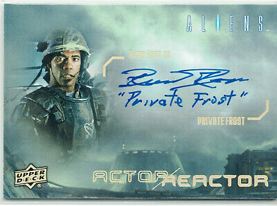 Aliens Actor//Reactor Autograph Card AR-PR Ricco Ross as Private Frost