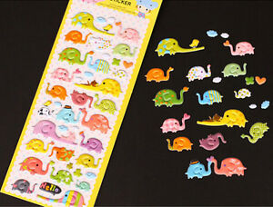 20*7.5 Cm Diy Cartoon 3d Sponge Bubble Sticker Lovely Cat Or Elephant For Kids Gift Toy Notebooks & Writing Pads Memo Pads