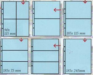 Masterphil-Confezione-10-fogli-per-banconote-francobolli-cartoline-UNI-Trasparen