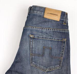 J.Lindeberg Hommes Lennon Jeans Jambe Droite Taille W32 L34 AVZ1099
