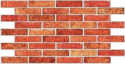 3D Beige Textured Brick PVC Interior Wall Panels Kitchen Cladding