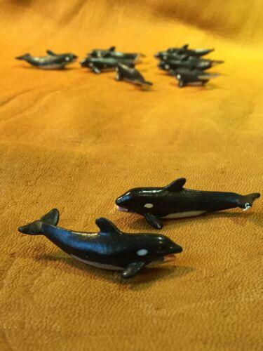 SHIPS FREE within USA Safari Good Luck Minis Killer Whales 10 Pcs