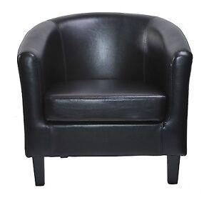 sessel clubsessel lounge cocktailsessel aus kunstleder schwarz. Black Bedroom Furniture Sets. Home Design Ideas