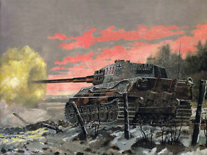 Details about Gifts Art wall HD prints oil painting on canvas ww2 war Retro  Vintage tank lg442