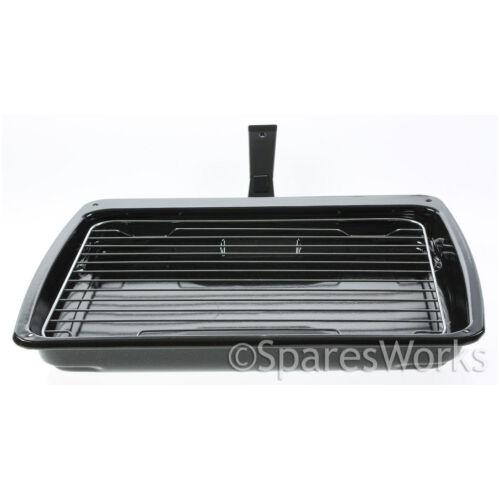 Stoves Smalto Griglia Pan /& Staccabile Scorrimento Sicurezza Manico 385X320mm