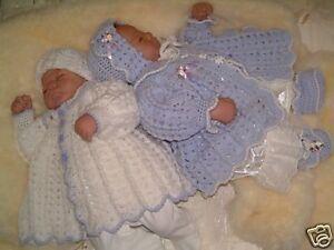 CROCHET-PATTERN-CUDDLY-REBORN-BABY-TWINS-MATINEE-SET