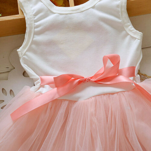 Toddler Kid Baby Girl Princess Flower Lace Tulle Tutu Party Skater Dress Reliabl