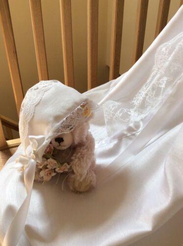 GIRLS BAPTISM DRESS DEDICATION LACE NAMING BABY BONNET CHRISTENING GOWN