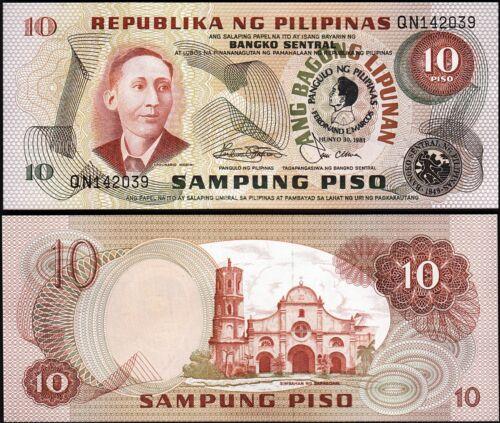 1981 Commemorative Philippines 10 Piso UNC P-167