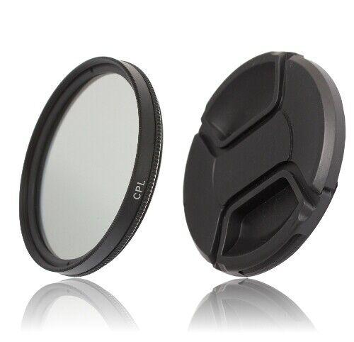 52mm filtro CPL espectroscopia polarizador /& objetivamente tapa lens cap